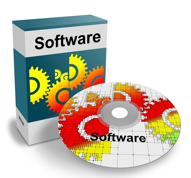 generic software box with a CD labelled software