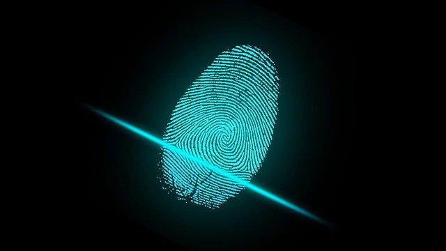 a digital fingerprint being scanned